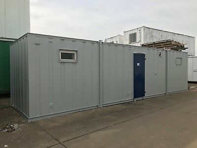 Portable Cabin, Site Office, Portable Building, Steel Store, 32 x 9 (1637)