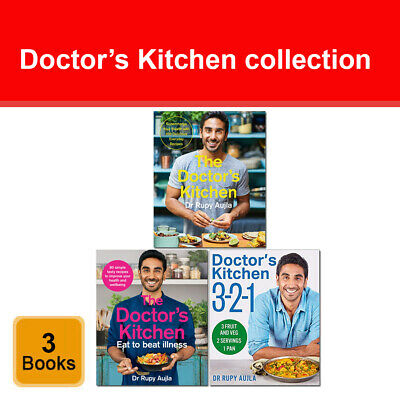 Dr Rupy Aujla Doctor's Kitchen cookbook 2 books set pack Eat to Beat Illness NEW
