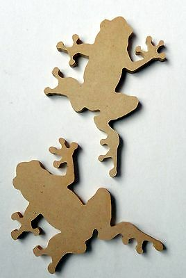 Folk Art Wooden Shape - 2 Frog Shapes