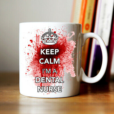 Keep Calm I'm A Dental Nurse Blood Splatter design Coffee Mug present