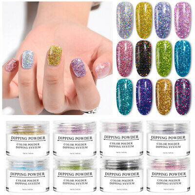 MEET ACROSS 5ml Holographic Dipping Powder Glitter Manicure Nail Art Accessories