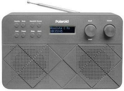 Polaroid Stereo DAB+ DAB Mains Battery Powered Digital Radio with Dual Alarm
