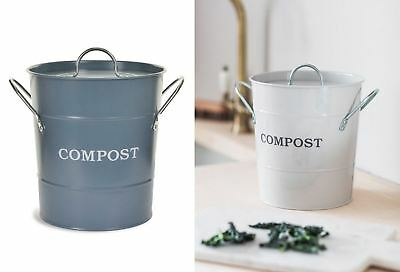 Garden Trading Steel Indoor Compost Composting Caddy Bin 3.5L Many Colours