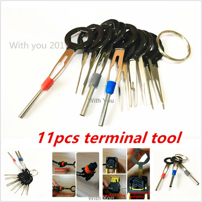 Terminals Removal Tools Wiring Crimp Connector Extractor Puller Release Pin Kit