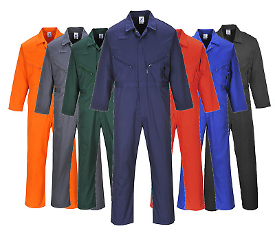 Portwest Zip Coverall Overall Welder Mechanic Work Boilersuit Phone Pocket C813