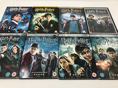 Harry Potter Complete DVD Collection | 8 Movie Bundle | Free Postage