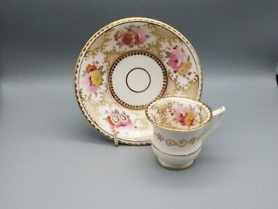 Antique English Porcelain Hicks & Meigh 189 group Coffee Cup & Saucer 1820