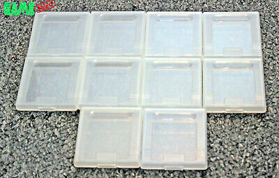 10 X Genuine Official Nintendo Game Boy Plastic Clear Game Cases Gameboy Color