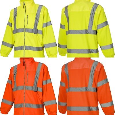 Brand New VizWear Hi Vis Viz Visibility Warm Fleece Zip Up Jacket Top