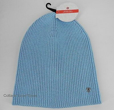 ee4f0e29 NEW LULULEMON Rad Hatter Toque Hat Heathered Caspian Blue Primo Cotton FREE  SHIP