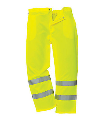 Portwest E041 Hi-Vis Viz Yellow Trousers Safety Workwear