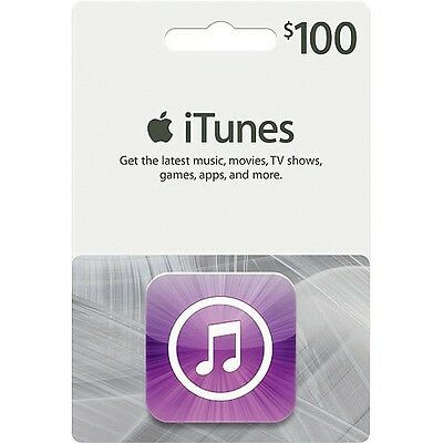 $100 Apple Itunes Gift Card, Computers & Electronics, US-Nationwide