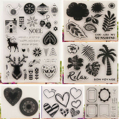 Transparent Silicone Stamp Clear Rubber Cling DIY Diary Scrapbooking Card Crafts
