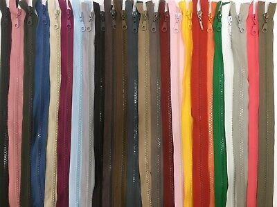 30 Colours/15 Sizes /14 To 85 Cm Closed End Chunky /Heavy Duty Plastic Zip -
