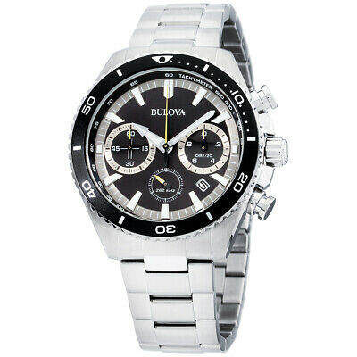 Bulova Classic Black Dial Stainless Steel Men's Watch 98B298