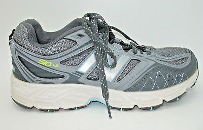 d9889042bcac New Balance 510 V3 Light Gray Athletic Trail Running Shoes Womens Size 6.5 D