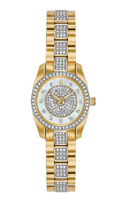New Women's Bulova Watch Crystal Collection #98L241