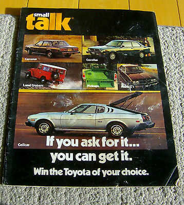 RARE VINTAGE 1976 TOYOTA mailer/catalog Small Talk Corollas Celicas  brochure car