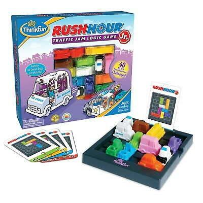 Rush Hour Junior Logic Game by Thinkfun | 40 Challenges | Escape the Traffic Jam