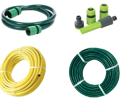 10M 30M 50M 100M Reinforced No Kink Garden Hose Water Pipe Hosepipe Yellow Green