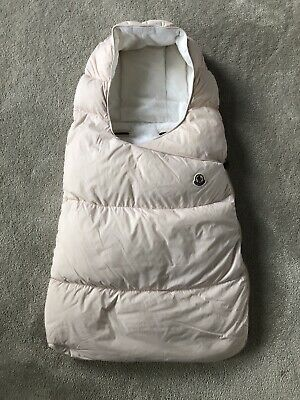 Moncler Baby Girl Pale Pink Sleep Bag Carseat 3-6 Months