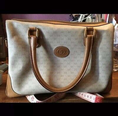 6fb94b9b1f1 VINTAGE GUCCI BOSTON Doctor Bag Purse Satchel GG Monogram Authentic ...