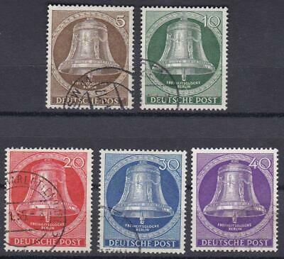 GERMANY (Berlin) 1953 Freedom Bell, Clapper at Center Complete Set of 5 Used