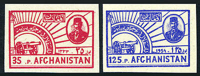 Afghanistan 421-422 Imperf.MNH.36th Year of Independence.Nadir Shah,Symbol,1954