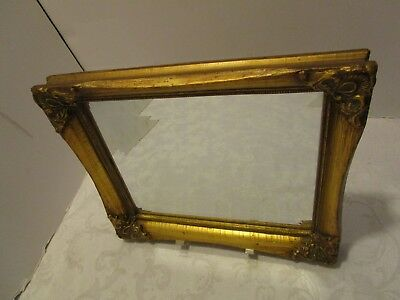 "Vintage Uttermost Co. Wall mirror Gold Ornate Hollywood Regency Baroque 12"" wide"