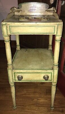 American Empire Wash Stand Original Paint  Early 19th Century