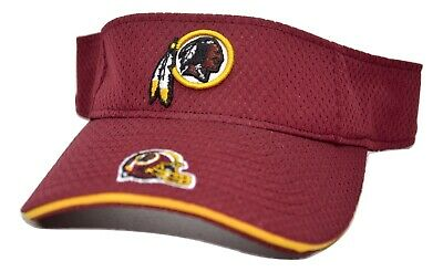 Washington Redskins NFL Team Apparel Dual Logo Football Adjustable Sun Visor
