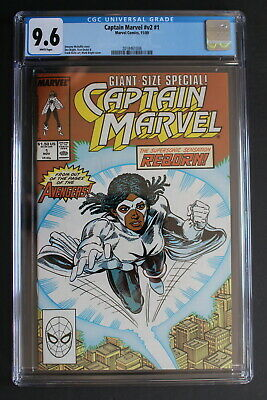CAPTAIN MARVEL 1 Avengers 1989 1st Monica Rambeau SOLO Black Female Film CGC 9.6