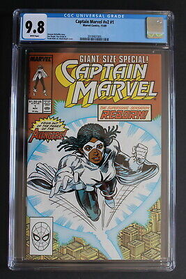 CAPTAIN MARVEL 1 Avengers 1989 1st Monica Rambeau SOLO Black Female Film CGC 9.8