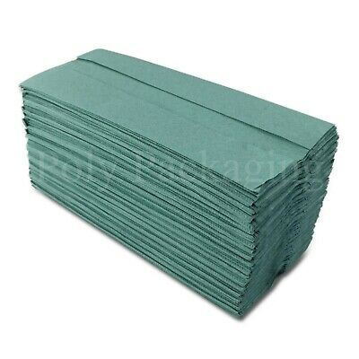 Green C Fold 1 Ply Paper Hand Towels Various Quantities Available