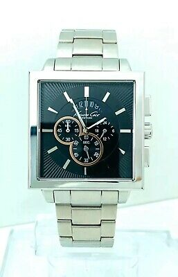 Kenneth Cole KC3844 Men's Stainless Steel Multifunction Square Shape Watch