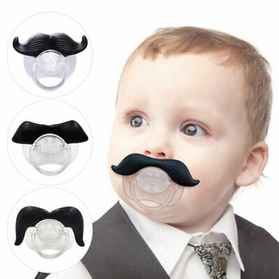 Funny Dummy Dummies Pacifier Novelty Moustache Babys Child Soother Beard Nipples