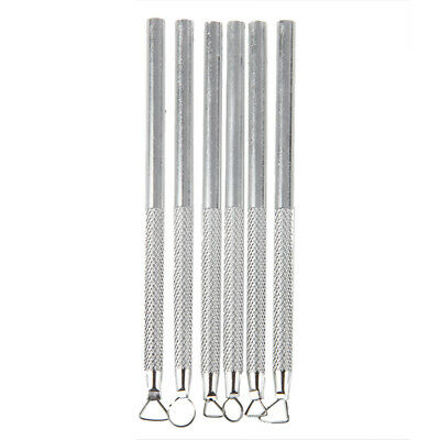 4X(Set 6 Pcs Aluminum Clay Sculpting Tools I1H6)