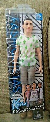 BRAND NEW BARBIE DOLL FASHIONISTAS KEN #16 CACTUS COOLER MAN BUN