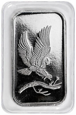 1 oz SilverTowne Eagle Silver Bar (New)Sealed in Plastic       FREE SHIPPING