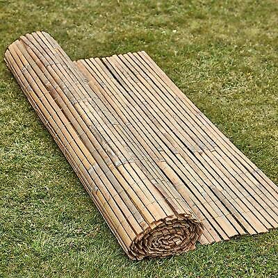 Bamboo Slat Fence Garden Screening Roll (All Sizes) *Natural Bamboo*Garden Fence