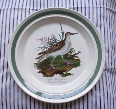 Vtg Portmeirion Dinner Plate Birds Of Britain Unused Grey Phalarope Discontinued