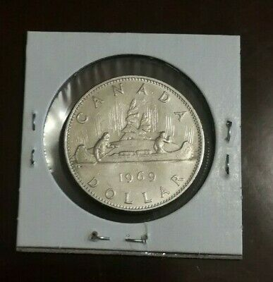 Canada 1969 Voyageur One Dollar Coin - Queen Elizabeth II