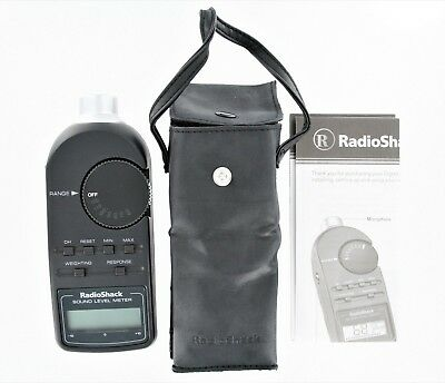 Radio Shack Digital Sound Level Meter Tester 30-2055 with Case & Manual