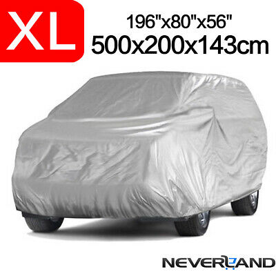 XL SUV Full Car Cover Universal Dust Protection Indoor UV Resistant Breathable