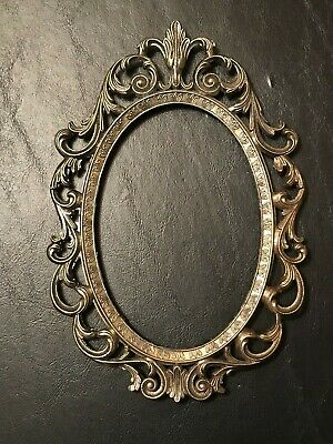 Vintage Small Ornate Italy Metal Picture Frame ONLY Antique Victorian Gothic