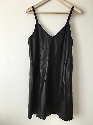 d82da289627 NWT ALICE + Olivia Black Lambskin Leather Dress Size 10 -  114.99 ...