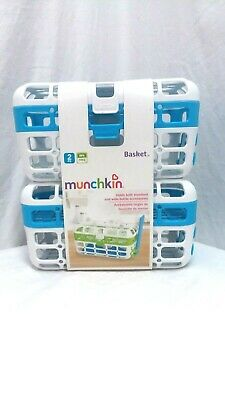 Munchkin 2 Pack Bottle Accessories Dishwasher Baskets - White/Blue New BPA Free