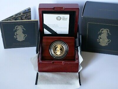 The Queen's Beasts The Yale of Beaufort 2019 UK Quarter-Ounce Gold Proof Coin