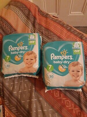 Pampers Baby Dry Size 7 Nappies X 2 New