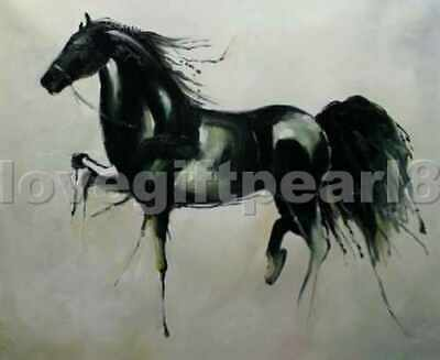 Modern Handmade Horses oil painting on canvas abstract art series